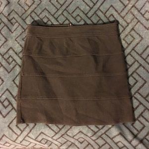 Olive Bandage Mini Skirt